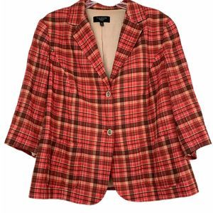 Talbots Womens Cotton Blazer 14W 3/4 sleeves